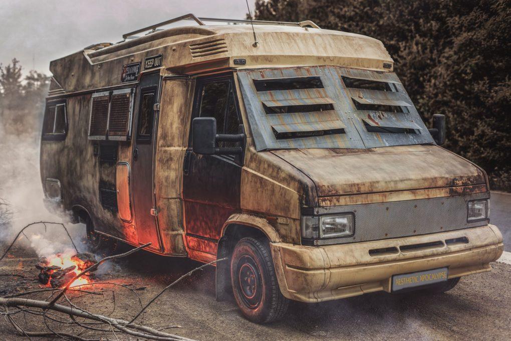 Post Apocalyptic Camper Van Aesthetic Apocalypse